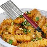 QZZD Taglia Verdure Multifunzionale Inossidabile Patatine Ondulate Taglierina Fiore Patata