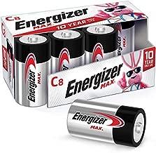 Energizer Max C Batteries, Premium Alkaline C Cell Batteries (8 Battery Count)