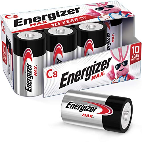 Energizer Max C Batteries, Premium Alkaline C Cell Batteries (8 Battery Count)