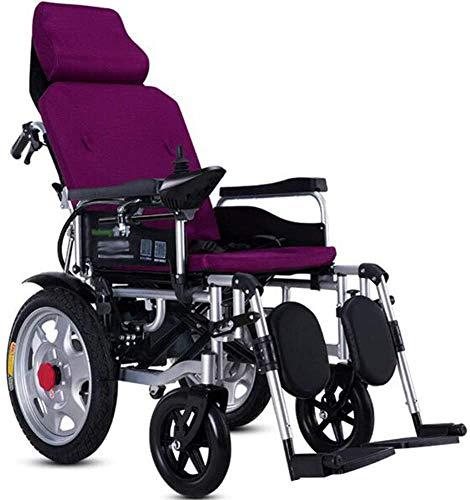 BXZ Silla de ruedas Silla de ruedas eléctrica de servicio pesado con...
