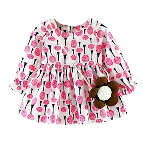 Saoye Fashion Bébé Fille Chaud à Manches Longues Robes Confortables Coloré Mignon Vêtements de Fiesta Animal Imprimer Loisirs Vêtements 1 6 Ans (Color : Rosa, Size : 18 Monate)