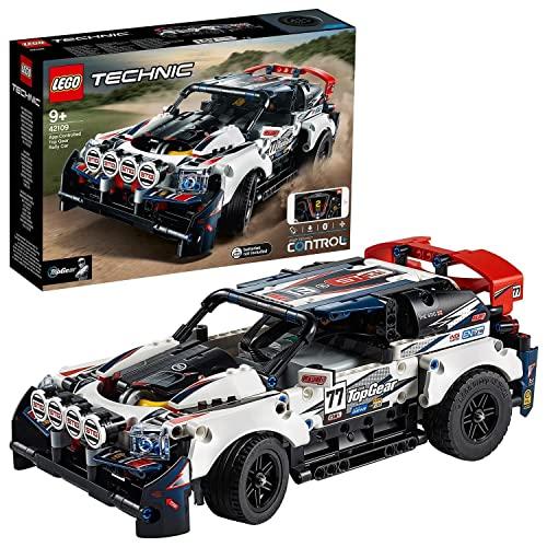 LEGO Technic 42109 Auto wyścigowe Top Gear sterowane przez aplikację, do budowy zabawkowej wyścigówki (463 elementy)