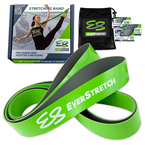 EverStretch Ballet Stretch Band: Premium 2-Layer Dance Stretch Band for Hands Free Flexibility Training. Ballet Band Stretching Equipment for Dance, Cheer and Gymnastics.
