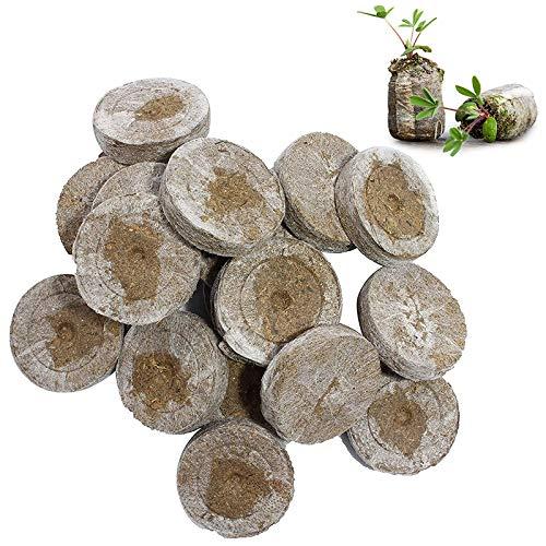 WRYIP Torf-Quelltabletten,Kokoserde gepresst zur Pflanzen Anzucht,Torffreier Anzuchterde,Anzucht Erde Kokos,Anzuchterde für Sämlingen Und Saaten (50 Stück)
