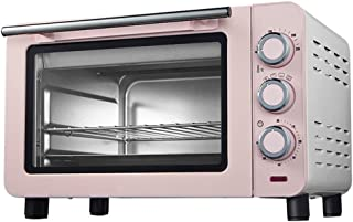 Tostador de convección horno, la bandeja y los guantes anti-escaldar 1200W Potencia de Cocción 15L Capacidad Azul Rosa (Color: Azul) (Color : Pink)