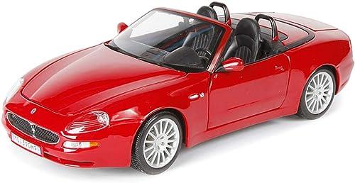 LBYMYB Modèle de Voiture 1 18 Maserati Spyde Simulation Alliage Moulage sous Pression Jouet OrneHommests Collection De Voitures De Sport Bijoux 23x10.8x7CM