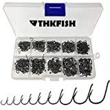 THKFISH Fishing Hooks Freshwater Fishing Tackle High Carbon Steel Fishing Hooks with Plastic