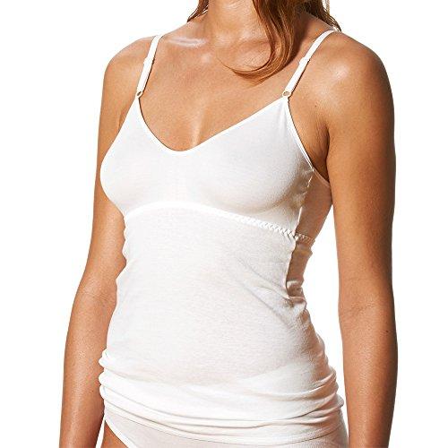 Mey 2er Pack Damen BH-Hemden - Noblesse - 25119 - Weiß - Größe 40 - BH-Unterhemd mit Verstellbaren Trägern - Unterhemd 100% Baumwolle