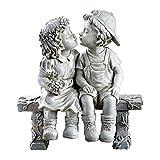 First Kiss, Puppy Love, Kissing Couple Garden Sculpture