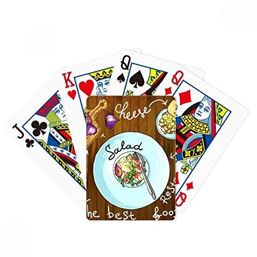 Juego de cartas mágicas para ensalada de queso higos Francia restaurante poker