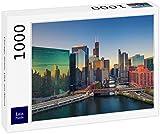 Lais Puzzle Chicago, Illinois, États-Unis, Le Soir 1000 Pièces