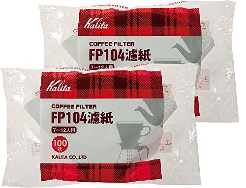 White 2 Taschen-Set # 17029 [7-12] Leute f?r 100 St?ck Filterpapier Kalita Kaffeefilter FP104 (Japan-Import)