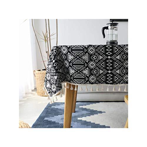 HGblossom Home Decoration Esstisch rechteckig Stoff Staubdichtes Tischdecke für TV-Sofa Kühlschrank Hotel Cafe Tischdecke, Heisehuizhang, über 100x140cm