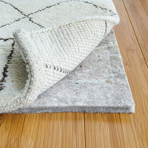"RUGPADUSA - Basics - 9'x12' - 1/2"" Thick - 100% Felt - Protective Cushioning Rug Pad - Safe for All Floors and Finishes including Hardwoods"