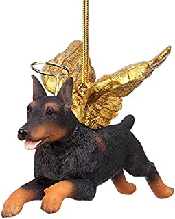 Christmas Tree Ornaments - Honor The Pooch Doberman Pinscher Holiday Angel Dog Ornaments