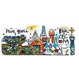 Weekino Parque Güell Barcelona España Imán de Nevera 3D Resina de la Ciudad de Viaje Recuerdo Colección de Regalo Fuerte Etiqueta Engomada refrigerador