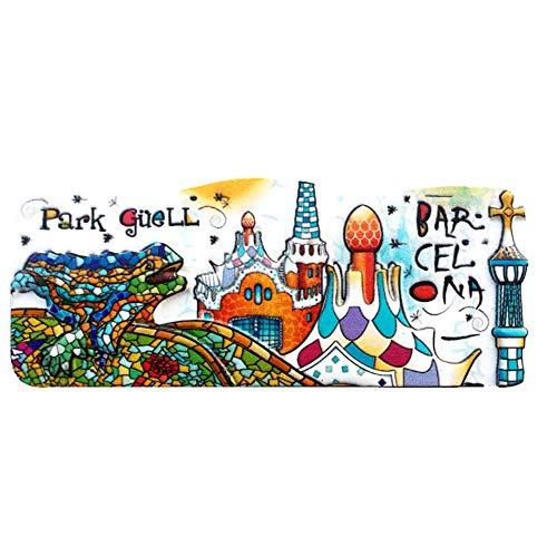 profesional ranking WeekinoPark Güell, Barcelona, España, resina 3D, imanes de nevera, ciudades de viaje, souvenirs… elección