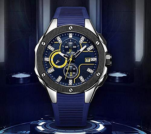 Voigoo Mann-Sport-Chronograph wasserdicht Quarz-Uhr-Mann-Top-Marke Male Uhr Relogio Masculino