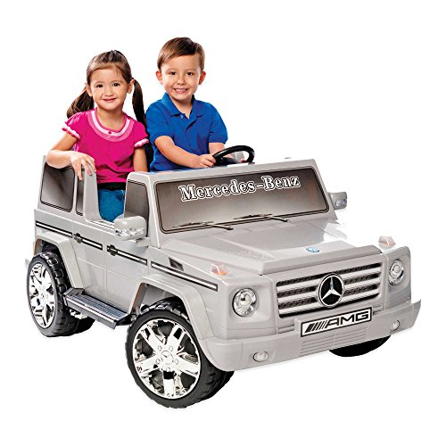 Check Out This Kid Motorz Mercedes Benz G55 AMG 2-Seater 12-Volt Ride-On in Silver