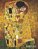 Gustav Klimt Agenda Annuale 2020: Il Bacio | Jugendstil Art Nouveau | Diario Settimanale per Organizzare Giorni Occupati | Arte d'Oro | Pianificatore Giornaliera 2020