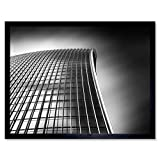 Warby Abstract Angle Walkie Talkie Building London Photo Art Print Framed Poster Wall Decor 12x16 Inch Guerra Resumen Londres Fotografía Póster Pared