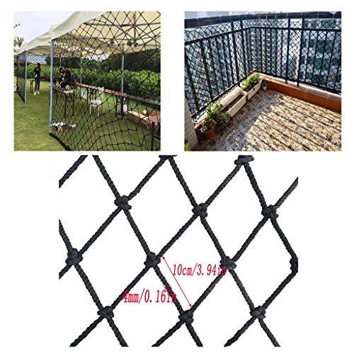 WWWANG Kinder Treppen Balkon Shatter festen Netz Zaun Sicherheitsnetz Schutznetz schwarz Anti-Katze Net Wanddekoration Net Net-Schutz for Kinder 100x100mm Mesh-4mm-Seil (Size : 1x6m)