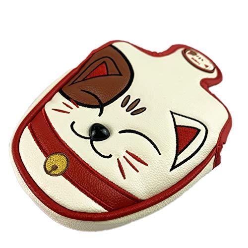 HELLO NRC Golf Headcovers Golf Driver Fairway Wood Hybrid Lucky cat Cartoon Animal Golf Putter Cover...