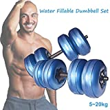 Water Filled Dumbbells Barbells Pair, 20-40KG...