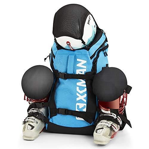 XCMAN - Mochila para botas de esquí, ligera y duradera, incluye casco, snowboard, botas, gafas, guantes y accesorios