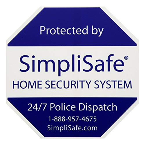 SimpliSafe 1 Home Security Yard Sign with 4 Security Stickers Decals