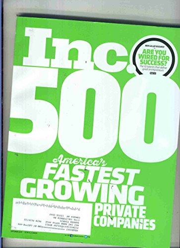 inc 500 magazine september 2014 - 1