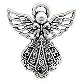 Pacco 10 x Argento Antico Tibetano 26mm Ciondoli Pendente (Angelo) - (ZX07090) - Charming Beads