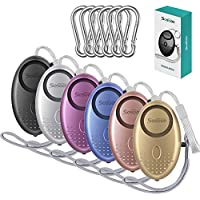 6 Pack Safe Sound Personal Alarm Keychain with LED Light