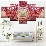 5 Panel Wandkunst Gemälde Psychedelisches Gesicht Poster Werkzeug Alex Gray Metal Musik Bild Zum Wohnzimmer Schlafzimmer Wohnkultur,B,40X60X240X80X240X100X1