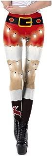 PAQOZ Women's Yoga Pants, Fashion High Waist Yoga Christmas Print Running Sports Pants Trouser
