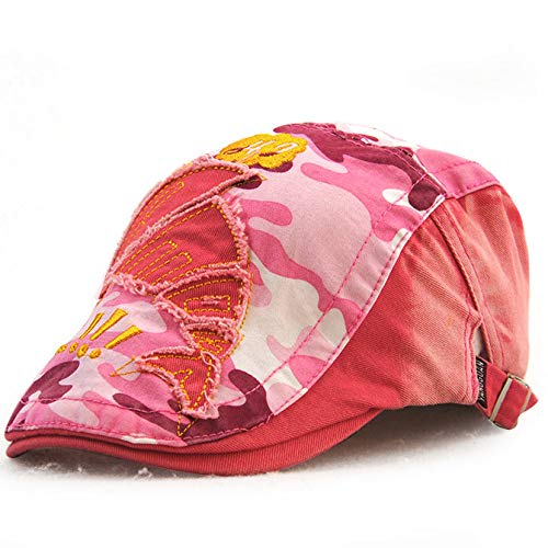 Boys and girls cap hats children beret camouflage spring and autumn Korean patch cartoon