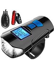 Suvi Fietsverlichtingsset, oplaadbaar led-voor- en achterlichtset, waterdichte mountainbike USB-fietslamp.