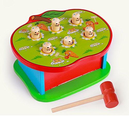 Jouets FEI Puzzle en Bois pour Enfants à Frapper Début Éducation (Couleur : A)