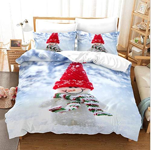 GSYHZL Kingsize-Bettbezug,3D Weihnachtsmuster Kingsize-Bett Bettwäsche-Set, Jungen...