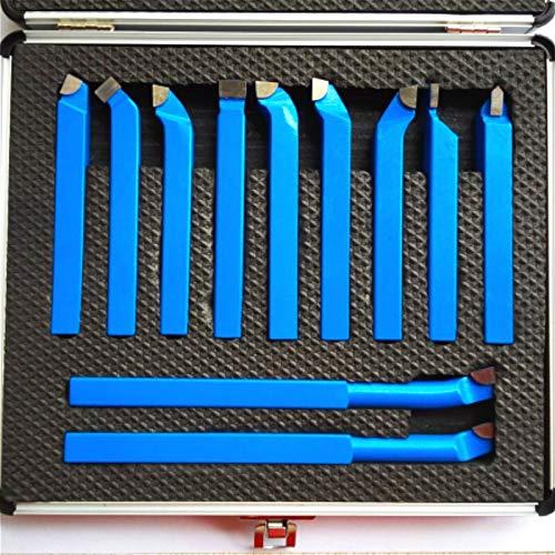 Without brand XXF-wjgj, 11PCS Metallcarbid CNC-Drehmaschine Werkzeuge Carbide Brazed Gespitzte Schneidwerkzeug Bit Cutting Set Kits Schweißen Drehen Halter-Werkzeug (Größe : 11pcs 8mm)