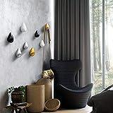 Homieco Confezione da 2 Ganci Appendiabiti a Hook a Goccia in Stile Creativo Decorazione a Parete per Decorazioni Moderne, 9,3 x 5,8 cm/Argento