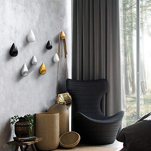 Homieco Confezione da 2 Ganci Appendiabiti a Goccia in Stile Creativo Appendiabiti a Parete Decorazione Moderna per Parete Decorativa, 7,5 x 4,8 cm/Argento