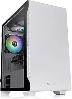 Thermaltake S100 Snow Edition Tempered Glass Micro ATX Case, CA-1Q9-00S6WN-00
