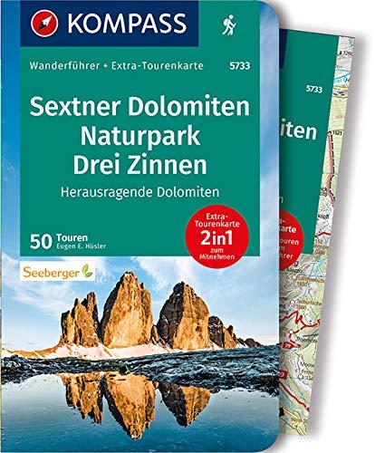 KOMPASS Wanderführer WF 5733 Sextner Dolomiten, Naturpark Drei Zinnen: Wanderführer mit Extra-Tourenkarte 1:50.000, 50 Touren, GPX-Daten zum Download