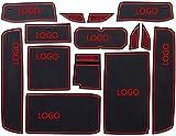 YZGS 14 unids/Set Puerta Antideslizante Ranura Pad Puerta Ranura Alfombrilla Decoración Reemplazo, para Lexus GS 2012-2016 (Color: NO.1) -No.1