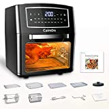 CalmDo Air Fryer Oven, 12 Liters Chip Fryer with Digital Display, 18 Preset Programmes Oil Free Toaster, 10...