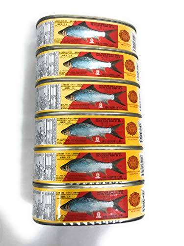Dace Fried & Whole ( Without ) Salted Black Bean in Oil 6 cans
