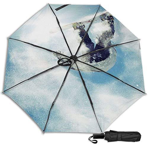 Skateboard On Runwaynovelty Manual Vinyl Dreifacher Regenschirm Sonnenschutz UV-Schutz Winddichter Regenschirm Reiseschirm
