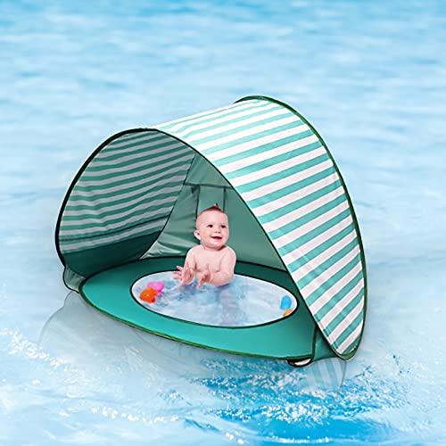 Acreny Bebé Niños Playa Tienda de Protección Piscina Impermeable Pop-up Toldo Tienda Niños al Aire Libre Camping Parasol