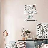 YLJYST - Vinilo decorativo para dormitorio o dormitorio, diseño de alfabeto en perspectiva, espejo reflectante